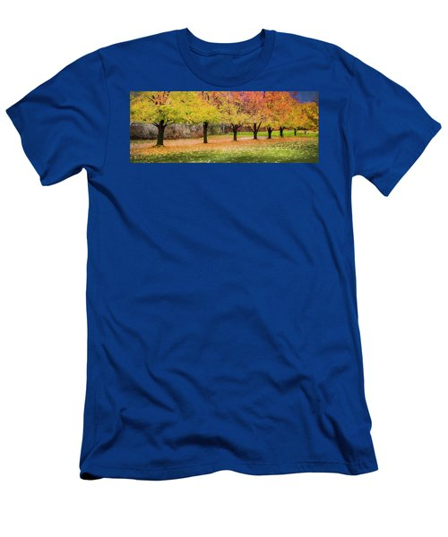 Men's T-Shirt (Slim Fit) featuring the photograph Impressionist Autumn by Theresa Tahara