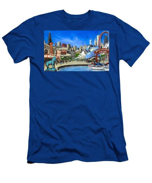 Impressions Of Chicago Men's T-Shirt (Slim Fit) by Robert Reeves