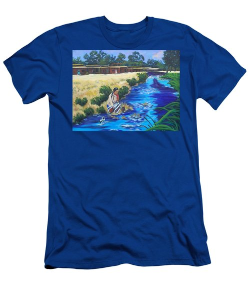 Indian Woman At The Watering Hole Men's T-Shirt (Athletic Fit)