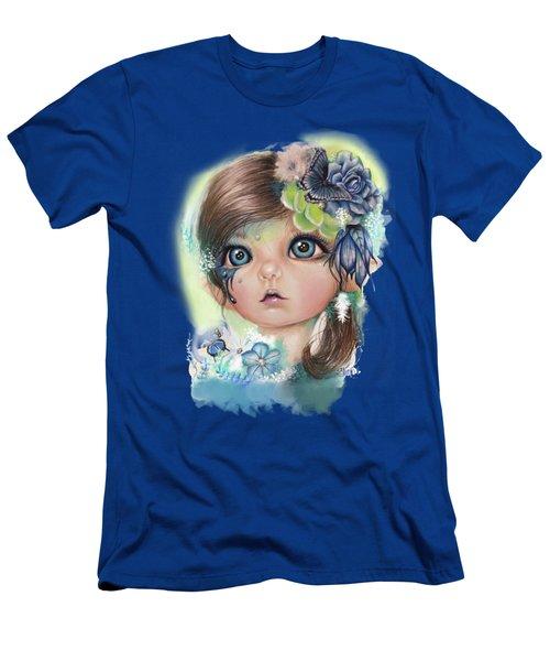 Indigo - Butterfly Keeper - Munchkinz By Sheena Pike  Men's T-Shirt (Slim Fit) by Sheena Pike