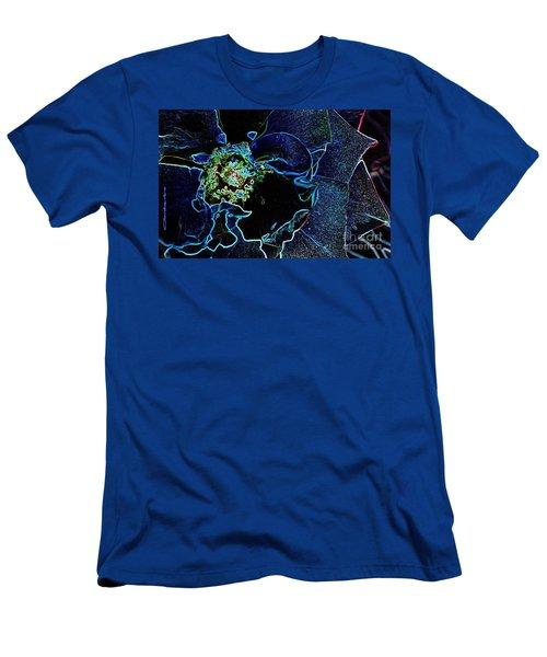 Indigo Neon Rose Men's T-Shirt (Athletic Fit)