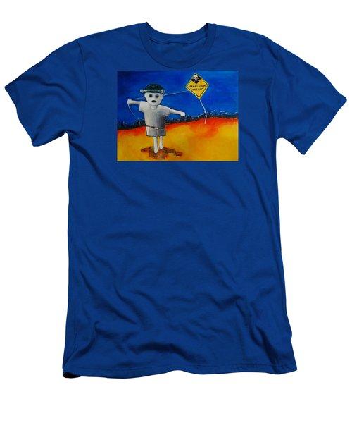 Inhalation Hazard Men's T-Shirt (Slim Fit) by Jean Cormier
