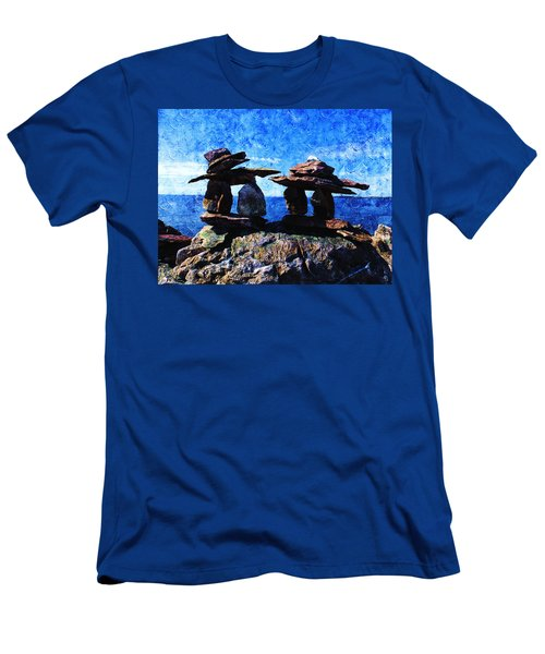 Inukshuk Men's T-Shirt (Slim Fit) by Zinvolle Art