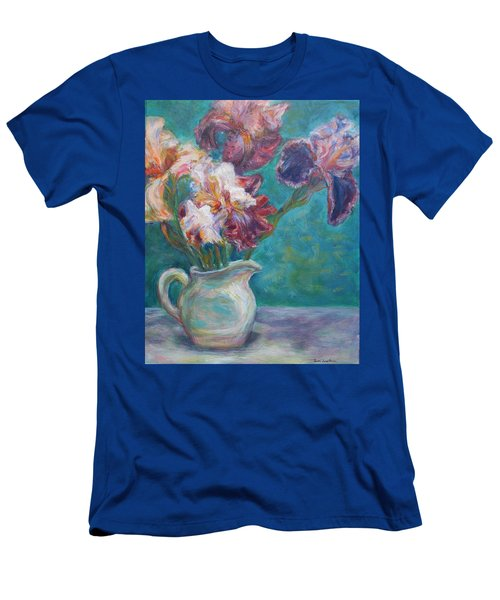 Iris Medley - Original Impressionist Painting Men's T-Shirt (Athletic Fit)