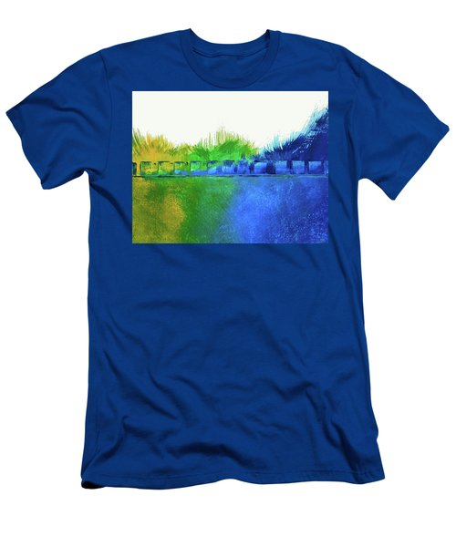 Men's T-Shirt (Slim Fit) featuring the painting Is It Any Wonder by Everette McMahan jr