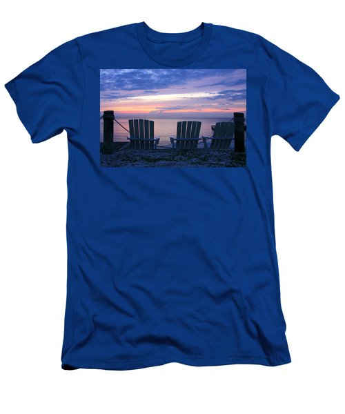 Island Time Men's T-Shirt (Slim Fit) by Catherine Alfidi