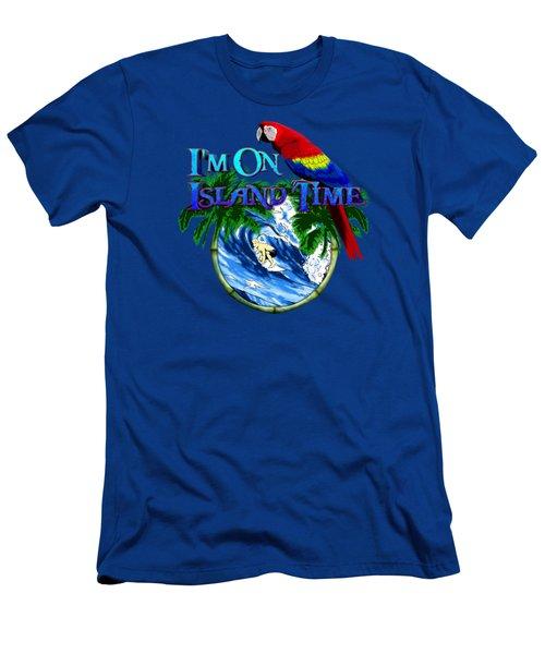 Island Time Surfing Men's T-Shirt (Slim Fit) by Chris MacDonald
