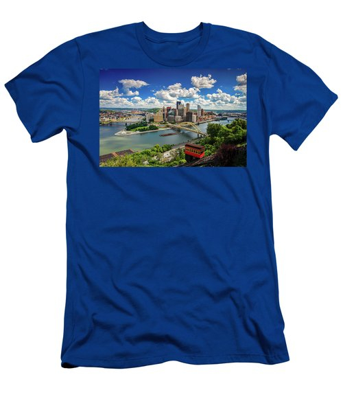 Men's T-Shirt (Slim Fit) featuring the photograph It's A Beautiful Day In The Neighborhood by Emmanuel Panagiotakis