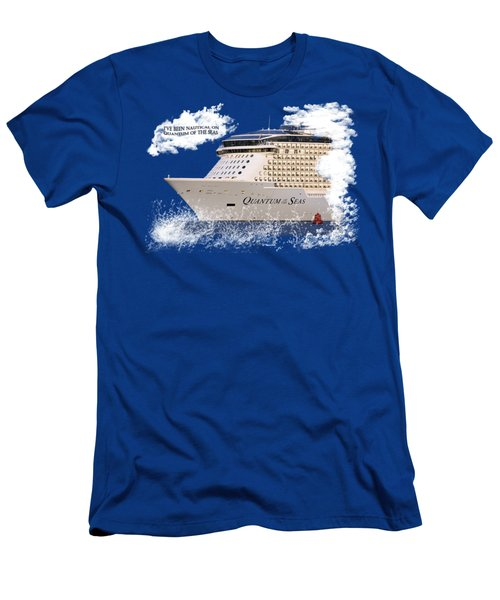 I've Been Nauticle On Quantum Of The Seas On Transparent Background Men's T-Shirt (Slim Fit) by Terri Waters