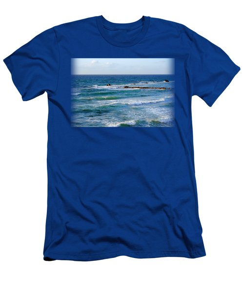 Jaffa Beach T-shirt Men's T-Shirt (Slim Fit) by Isam Awad