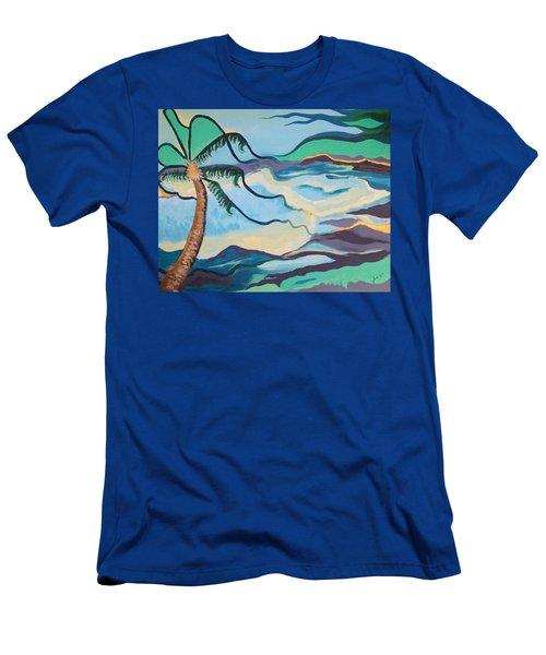 Jamaican Sea Breeze Men's T-Shirt (Slim Fit) by Jan Steinle