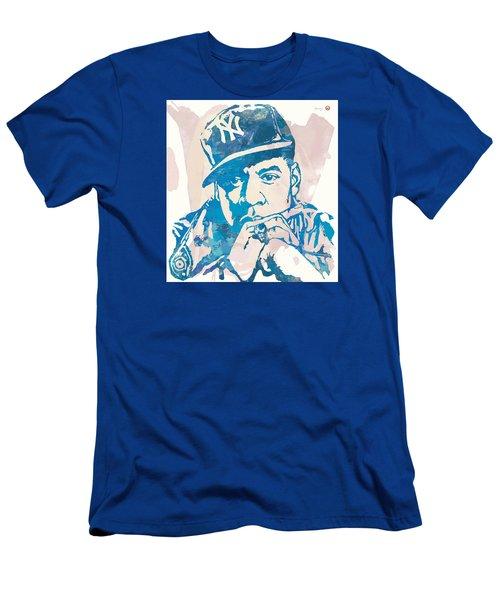 Jay-z  Etching Pop Art Poster Men's T-Shirt (Slim Fit) by Kim Wang