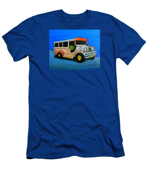 Jeepney Men's T-Shirt (Slim Fit) by Cyril Maza