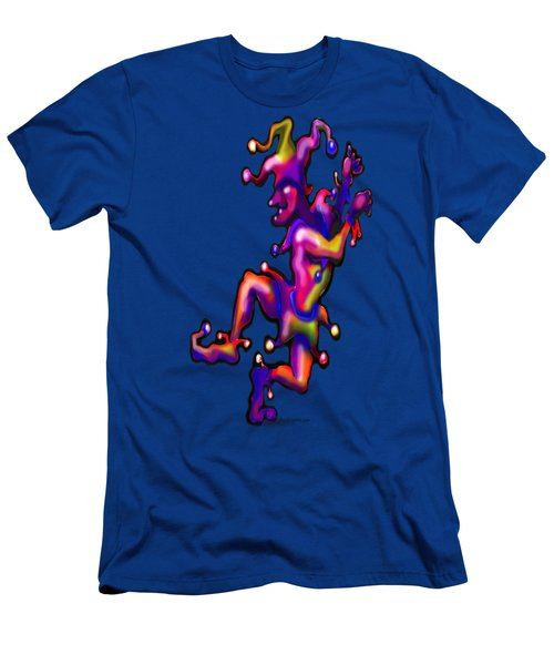 Jester On Blue Men's T-Shirt (Athletic Fit)
