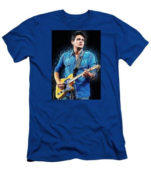 John Mayer Men's T-Shirt (Slim Fit) by Taylan Apukovska