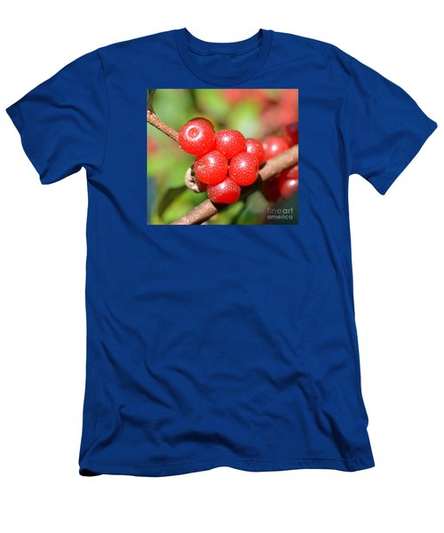 Juicy Red Men's T-Shirt (Slim Fit) by Lew Davis