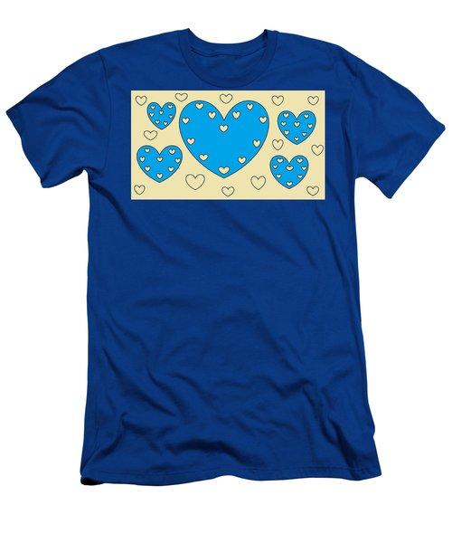 Just Hearts 4 Men's T-Shirt (Slim Fit) by Linda Velasquez