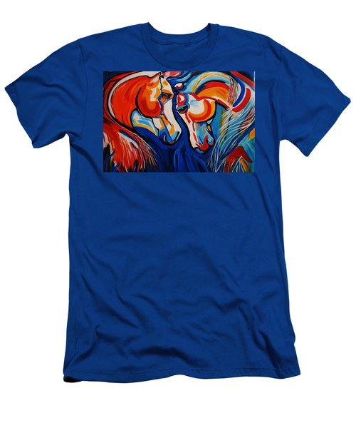 Just Horsing Around Men's T-Shirt (Slim Fit) by Nora Shepley