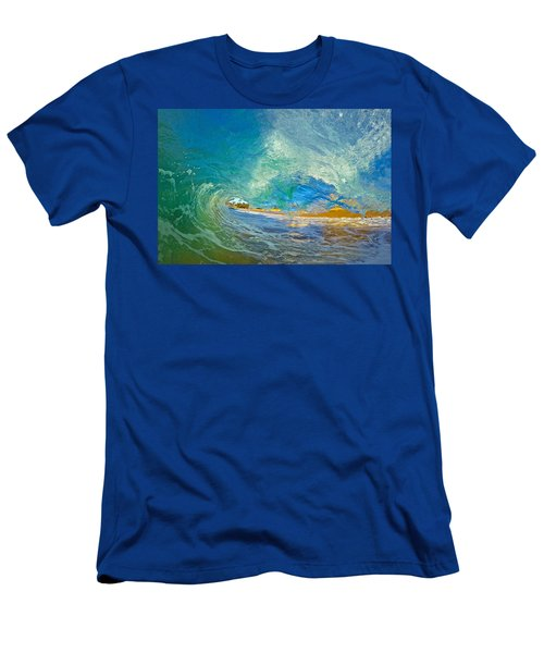 Kaanapali Wave Men's T-Shirt (Slim Fit) by James Roemmling