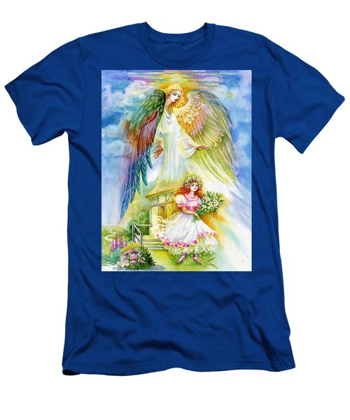 Keep Her Safe Lord Men's T-Shirt (Slim Fit) by Karen Showell