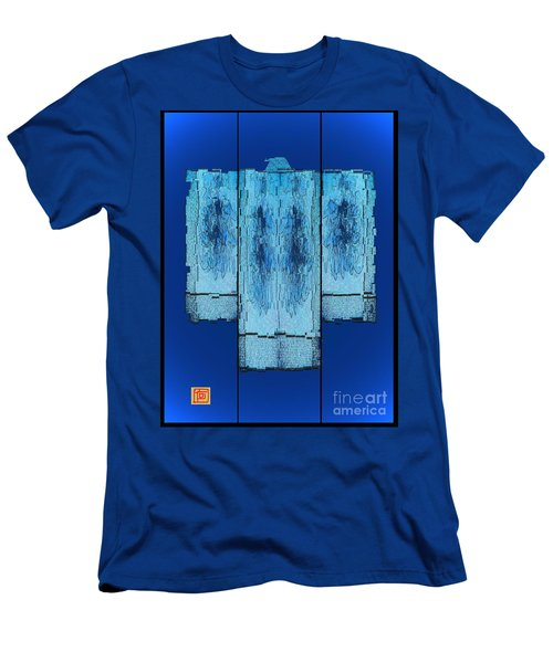 Kimono In Blue Men's T-Shirt (Athletic Fit)