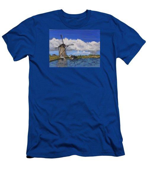 Kinderdijk Men's T-Shirt (Slim Fit) by Diane Arlitt
