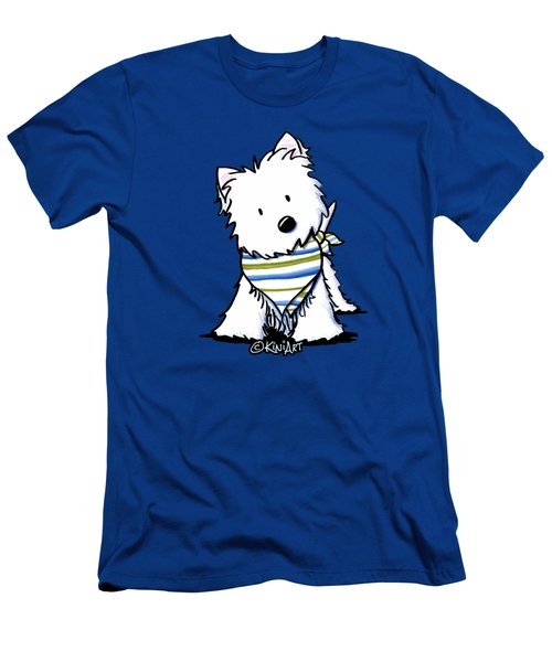 Kiniart Westie Terrier Men's T-Shirt (Athletic Fit)