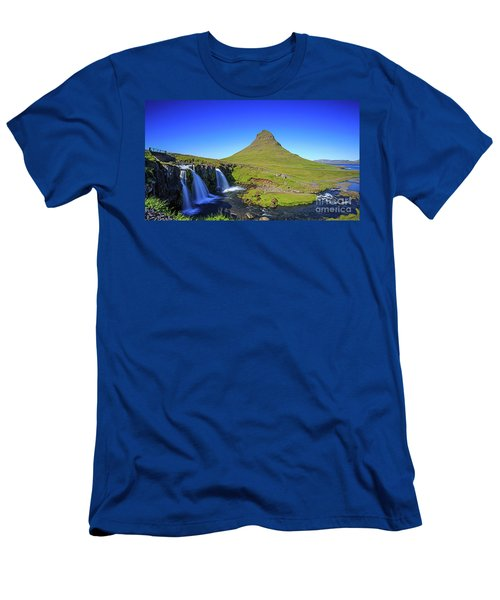 Men's T-Shirt (Athletic Fit) featuring the photograph Kirkjufell Iceland by Edward Fielding