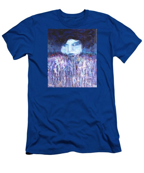 Men's T-Shirt (Slim Fit) featuring the painting Kiss Of The Silver Moon by Seth Weaver
