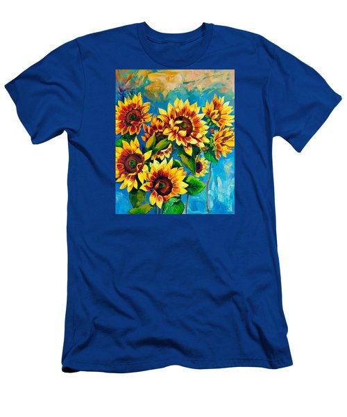 Men's T-Shirt (Slim Fit) featuring the painting Kissed By God by Karen Showell