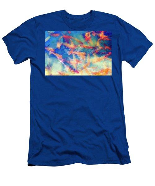 Kolorful Koi Series Men's T-Shirt (Slim Fit) by Joseph S Giacalone