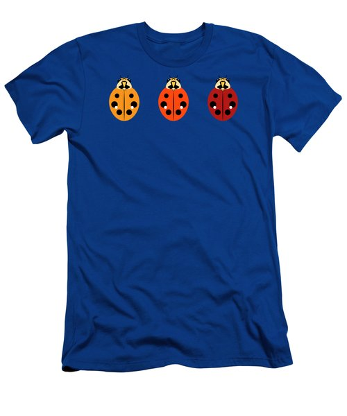 Ladybug Trio Horizontal Men's T-Shirt (Athletic Fit)
