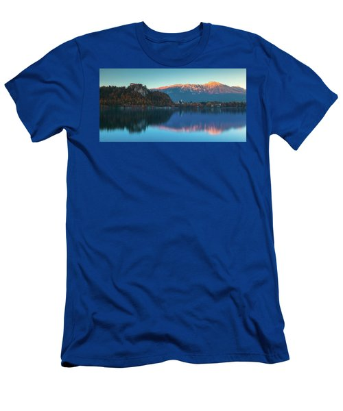 Lake Bled Panorama Men's T-Shirt (Athletic Fit)