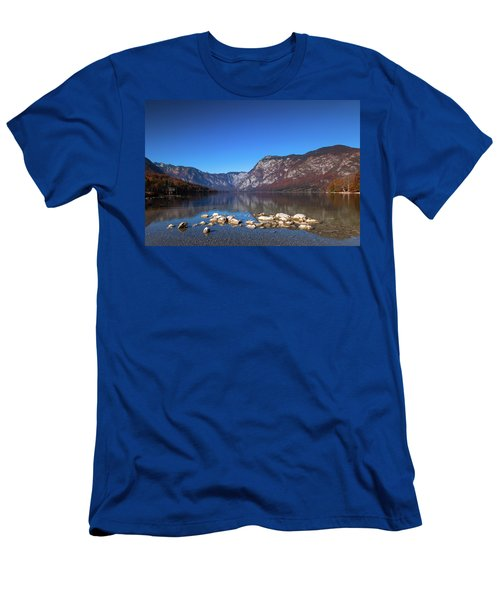 Men's T-Shirt (Athletic Fit) featuring the photograph Lake Bohinj by Davor Zerjav