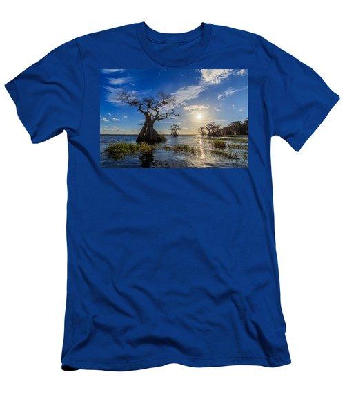 Lake Disston Cypress Paradise Men's T-Shirt (Athletic Fit)