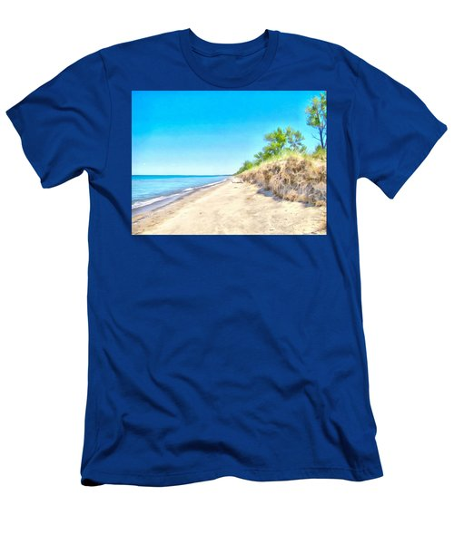 Lake Huron Shoreline Men's T-Shirt (Slim Fit) by Maciek Froncisz