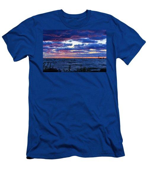 Lake Michigan Windy Sunrise Men's T-Shirt (Athletic Fit)