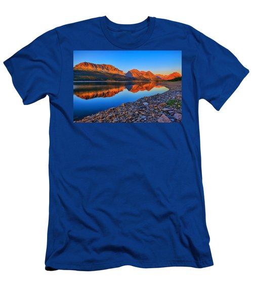 Lake Sherburne Dawn Men's T-Shirt (Slim Fit) by Greg Norrell