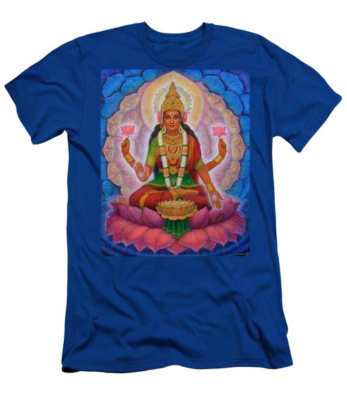 Men's T-Shirt (Slim Fit) featuring the painting Lakshmi Blessing by Sue Halstenberg