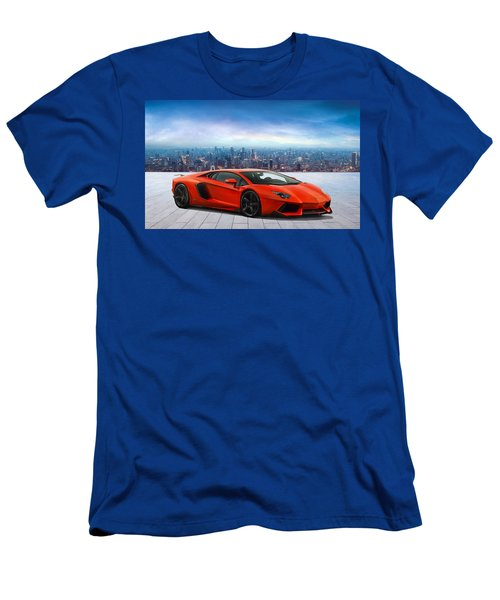 Lambo Cityscape Men's T-Shirt (Slim Fit) by Peter Chilelli