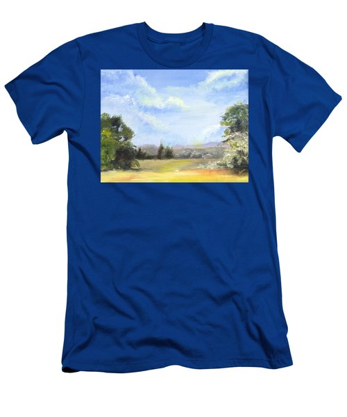 Men's T-Shirt (Slim Fit) featuring the painting Lapoint Utah by Jane Autry