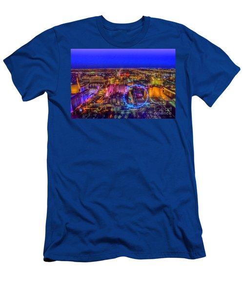 Las-vegas Aerial Golden Hour Men's T-Shirt (Athletic Fit)