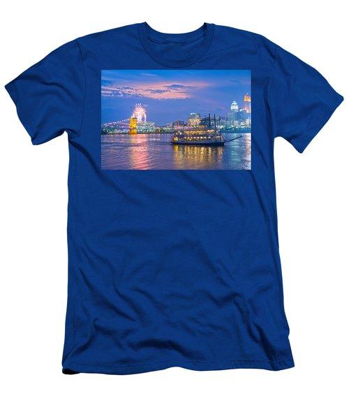 Laser Show Over Paul Brown Stadium  Men's T-Shirt (Athletic Fit)