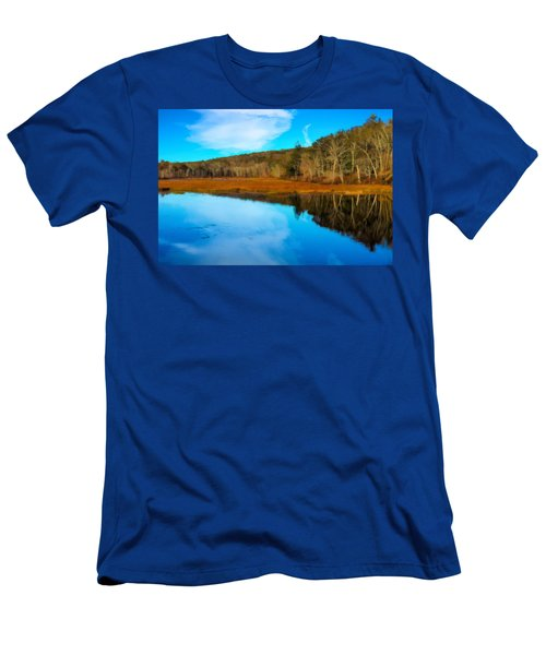 Late Fall At A Connecticut Marsh. Men's T-Shirt (Athletic Fit)