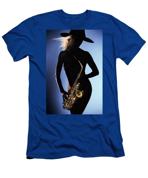 Late Night Sax Men's T-Shirt (Athletic Fit)