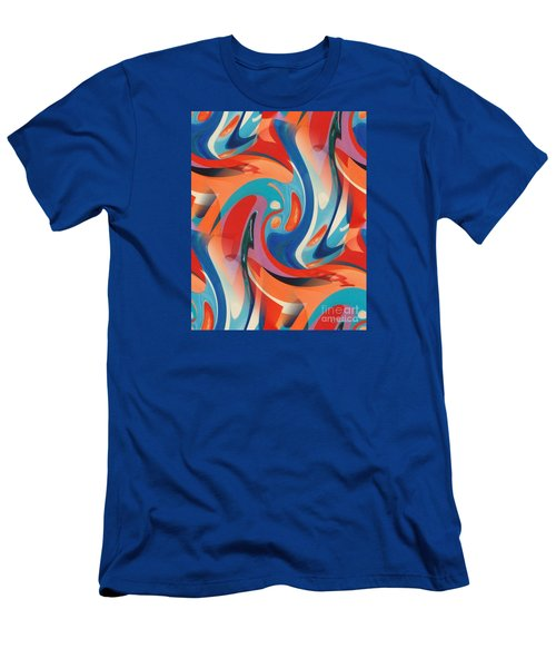 Layered Hot-wax  Men's T-Shirt (Athletic Fit)