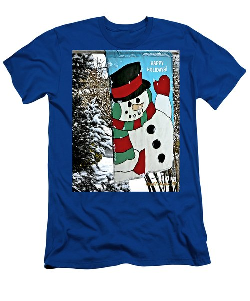 Let It Snow - Happy Holidays Men's T-Shirt (Slim Fit) by Carol F Austin