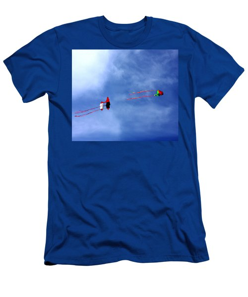Let's Go Fly 2 Kites Men's T-Shirt (Athletic Fit)
