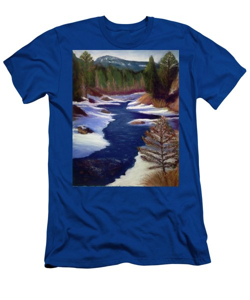 Licia's Painting Gratitude Men's T-Shirt (Athletic Fit)