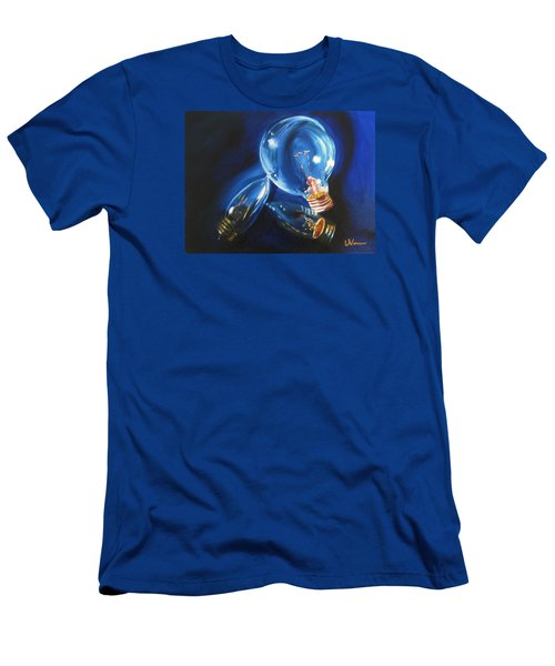Men's T-Shirt (Slim Fit) featuring the painting Light Up My Life by LaVonne Hand